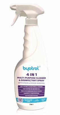 BYOTROL 4in1 Multi-Purpose Disinfectant Cleaner 6 x 750ml