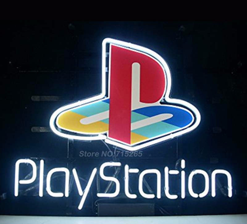 Playstation Game Room Neon Bulbs Sign 17x14 My Trendy Bay