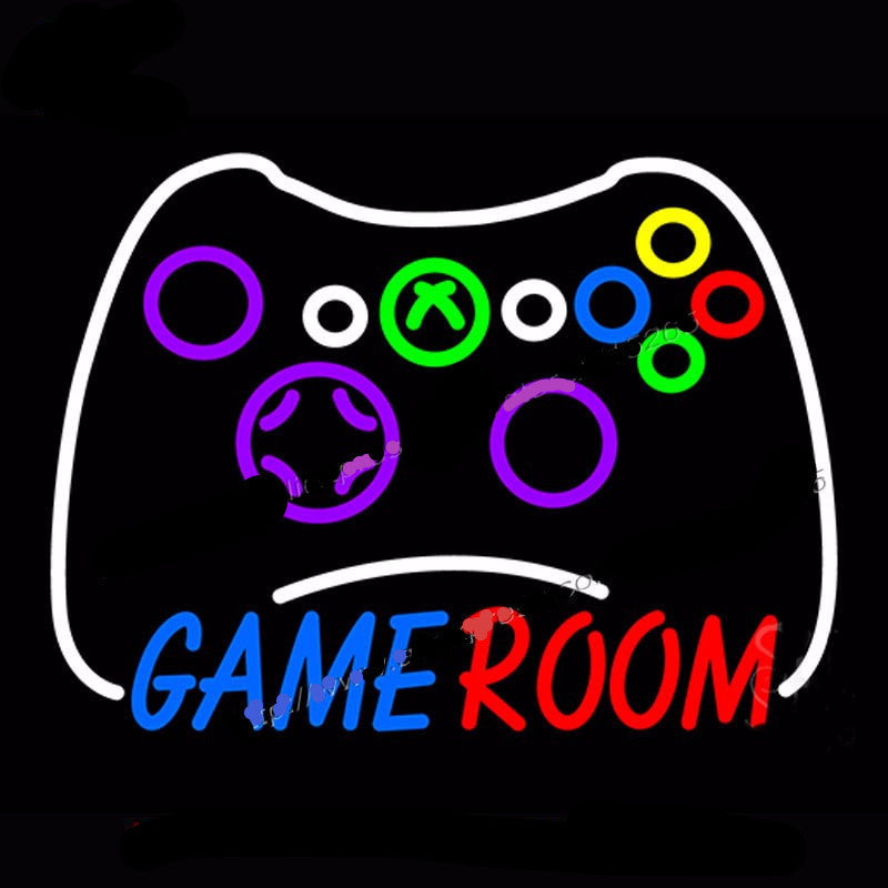 Game Room Xbox Controller Neon Bulbs Sign 18x24 My