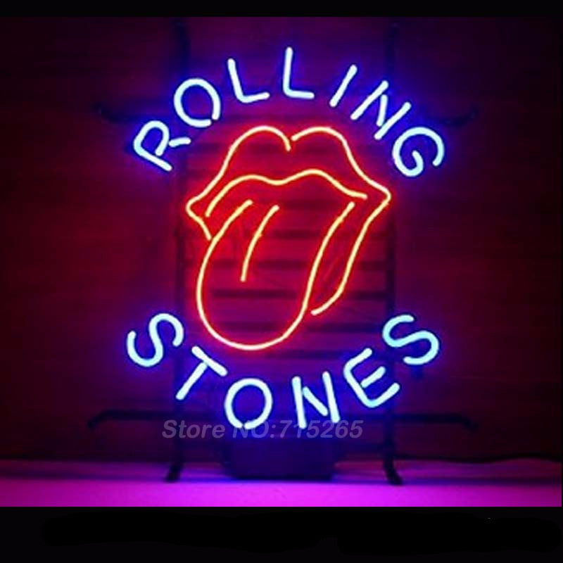 Rolling Stones Rock Band Neon Bulbs Sign 19x15 My Trendy Bay