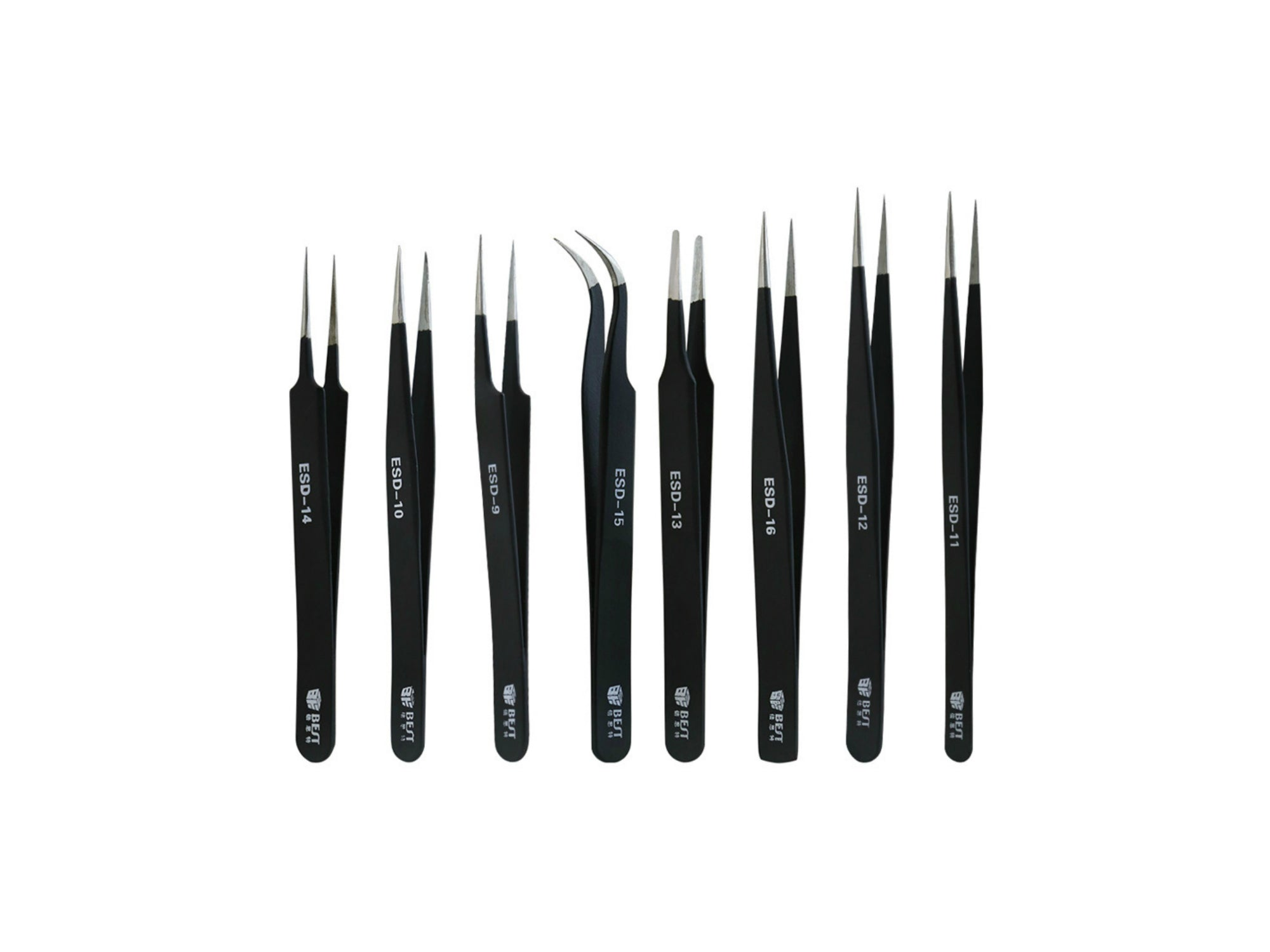 BST-ESD-10 Tweezers Set