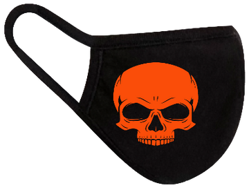 Rugged Trade Orange Skull Mask - Dual layered - Re-Usable - USA Made