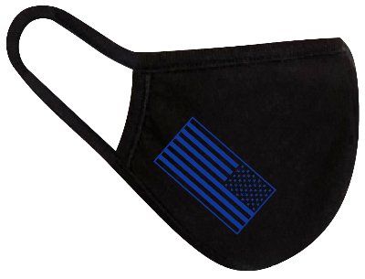 Rugged Trade United Strong Flag Blue Mask - Dual layered - Re-Usable - USA Made