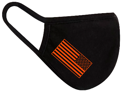 Rugged Trade United Strong Flag Orange Mask - Dual layered - Re-Usable - USA Made