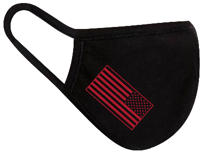 Rugged Trade United Strong Flag Red Mask - Dual layered - Re-Usable - USA Made