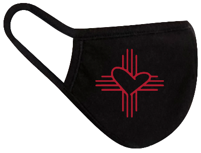 Rugged Trade Trade Love Red Mask - Dual layered - Re-Usable - USA Made