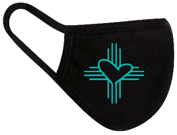 Rugged Trade Trade Love Turquoise Mask - Dual layered - Re-Usable - USA Made