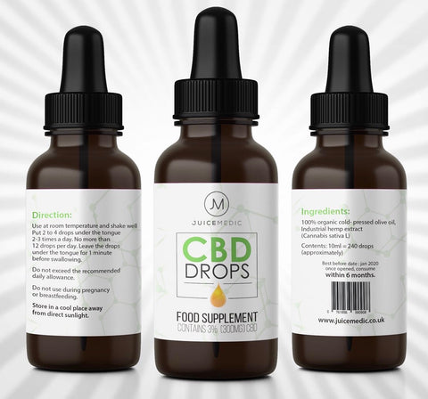 Juice Medic™ CBD Drops - 3% 10ml