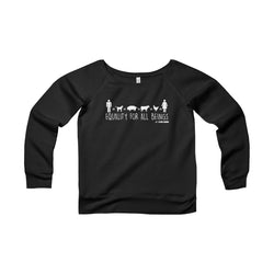 Equality For All Beings - Women's Wide Neck Sweatshirt