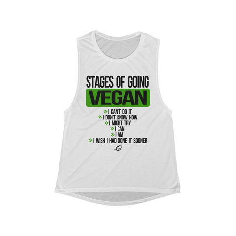 Stages Of Going Vegan - Women's Muscle Tank