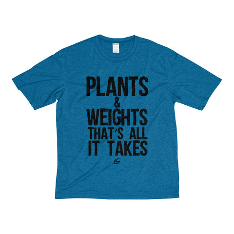 Plants & Weights - NEW Men's Heather Dri-Fit Tee