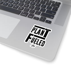 Plant Fueled - Black - Kiss-Cut Stickers