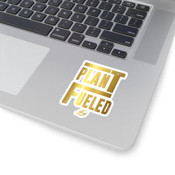 Plant Fueled - Gold - Kiss-Cut Sticker