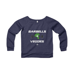 Barbells & Veggies - Women's Wide Neck Sweatshirt