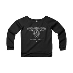 For The Animals - Lamb Women's Wide Neck Sweatshirt