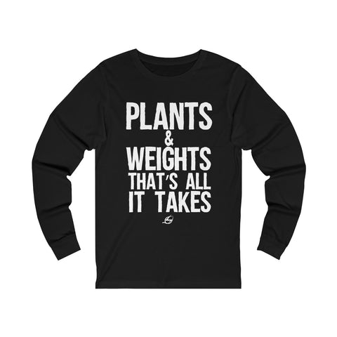 Plants & Weights - Men's Long Sleeve Tee