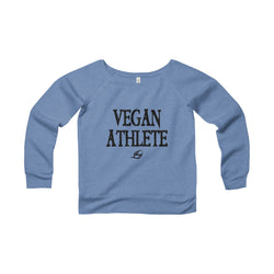 Vegan Athlete - Women's Wide Neck Sweatshirt