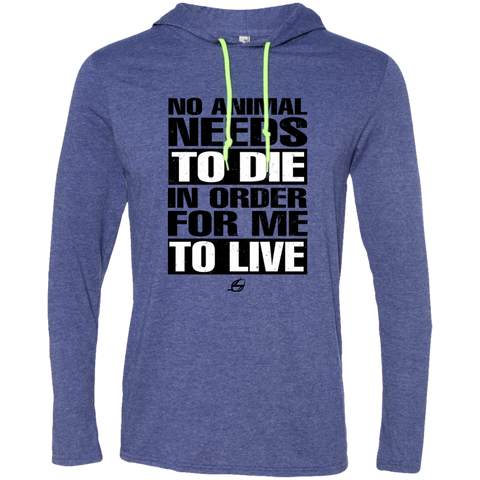 No Animal Needs To Die - Men's LS Hoodie