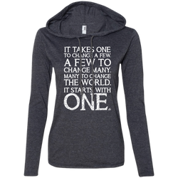 It Starts With One - Ladies' LS Hoodie