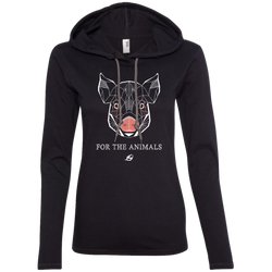 Pig - For The Animals - Ladies LS Hoodie