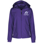 Living Engine Ladies Jersey-Lined Hooded Windbreaker