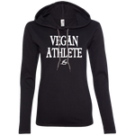 Vegan Athlete - Ladies LS Hoodie Withe
