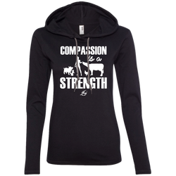 Compassion is a Strength - Ladies LS Hoodie