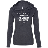 I Just Want To Eat Fruits - Ladies LS Hoodie