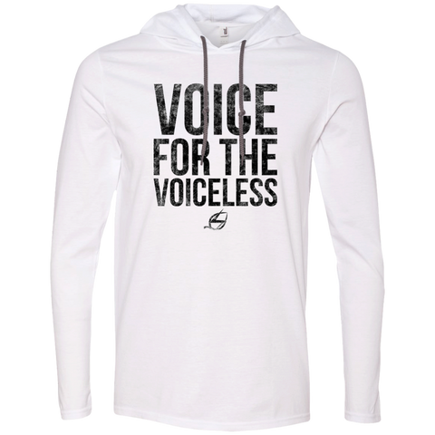 Voice For The Voiceless - Men's LS Hoodie Black
