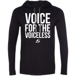 Voice For The Voiceless - Men's LS Hooded Tee (Black)
