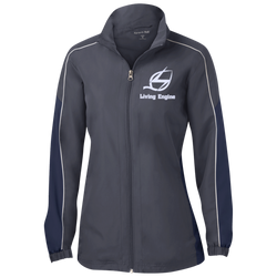 Living Engine Ladies Piped Colorblock Windbreaker