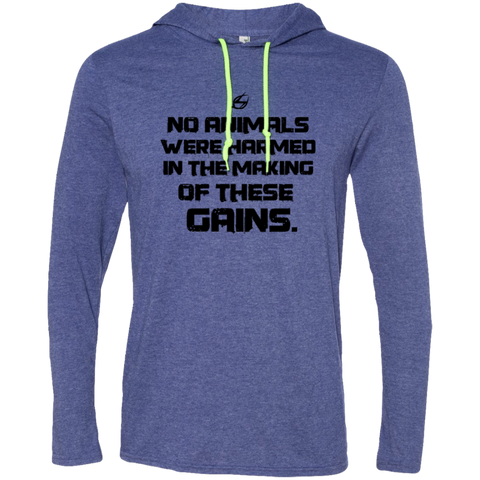 No Animals Were Harmed - Men's LS Hoodie