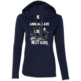 Animals Are Not Ours - Ladies LS Hoodie