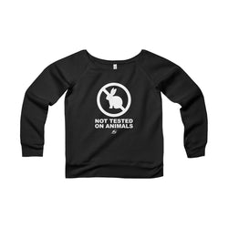 Not Tested On Animals - Women's Wide Neck Sweatshirt