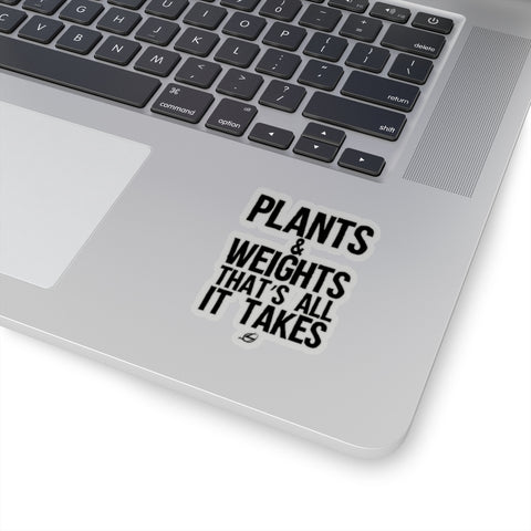 Plants & Weights - Kiss-Cut Stickers
