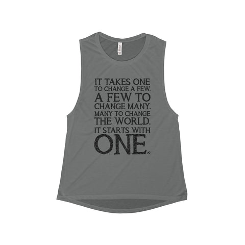 It Starts With One - Women's Muscle Tank