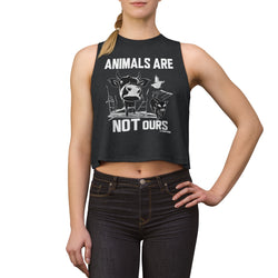Animals Are Not Ours - Women's Crop top