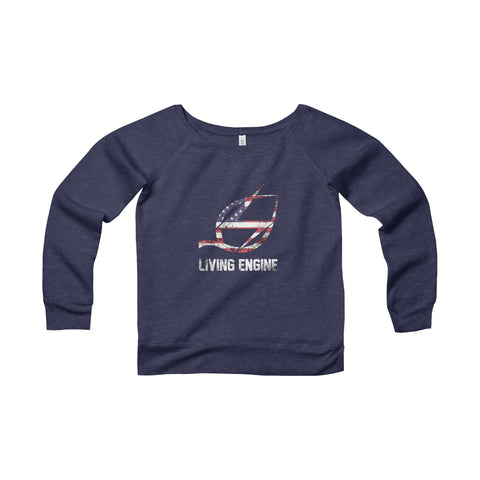 Living Engine - American Women's Wide Neck Sweatshirt