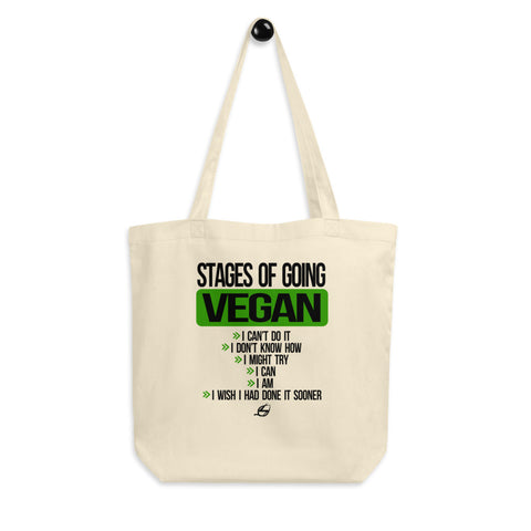 Stages of Going Vegan - Eco Tote Bag