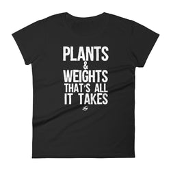 Plants & Weights - Women's t-shirt