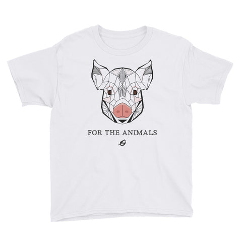 For The Animals - Pig Youth T-Shirt