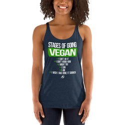Stages Of Going Vegan - Women's Racerback Tank