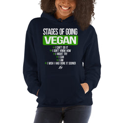 Stages Of Going Vegan - Women's Hoodie