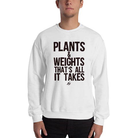 Plants & Weights - Men's Sweatshirt