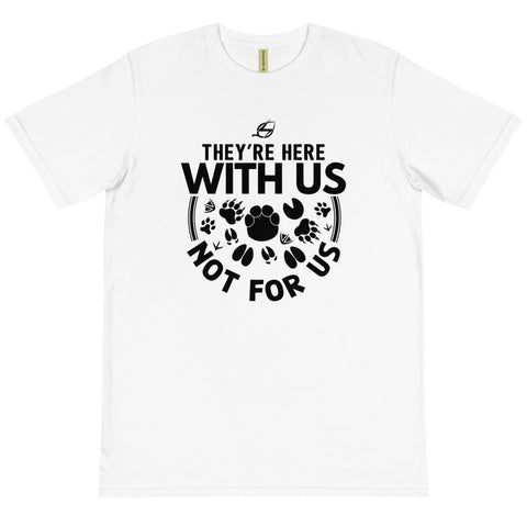 They're Here With Us - Organic Unisex T-Shirt