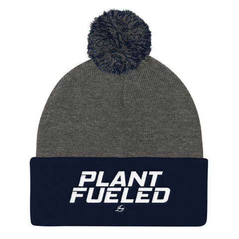 Plant Fueled Pom Pom Knit Cap