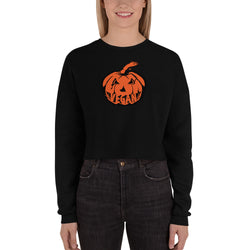 Vegan Pumpkin - Crop Sweatshirt