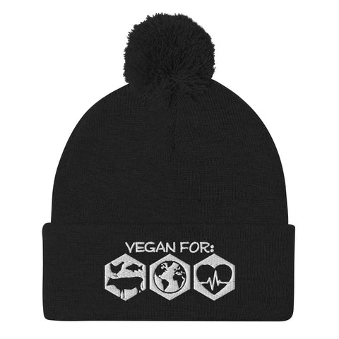 Vegan For Everything - Pom-Pom Beanie