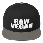 Raw Vegan Flat Bill Cap