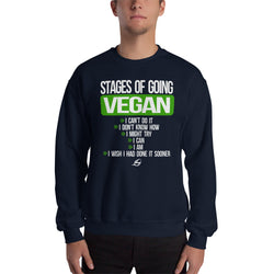 Stages Of Going Vegan - Men's Sweatshirt